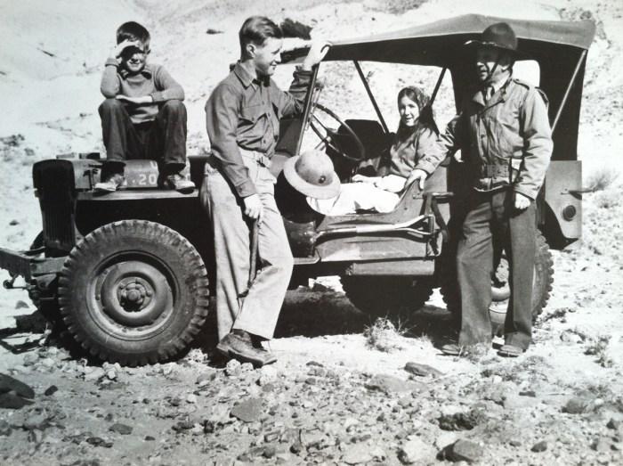 "Boyd Dron, John (Jack) Dron, jr., Dorothy Dron (Rail), John A. Dron, Sr. (""the Major"")"