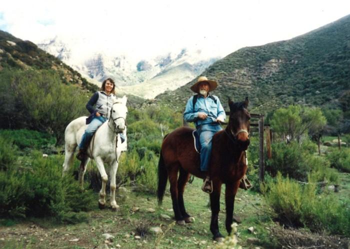 Boyd and Karin Horseback Riding