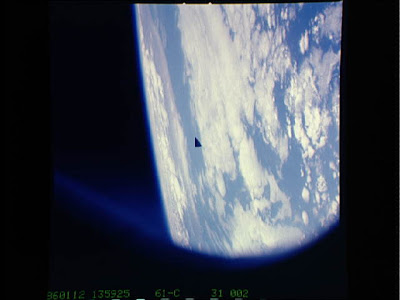 OVNI triangular filmado pela NASA
