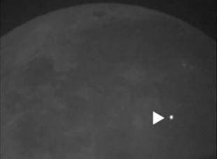 Explosão do meteoro que chocou contra Lua pode ser vista a olho nu na Terra.