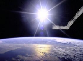 ilustração luz no espaço