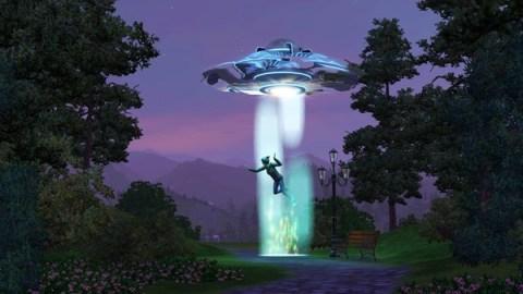 Ilustração de abdução alienígena