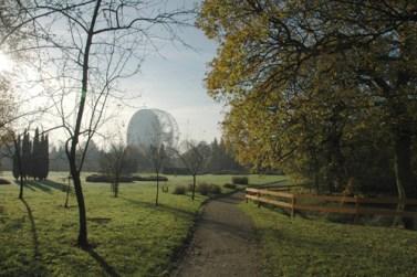 Radio Telescópio Jodrell Bank, no Reino Unido.