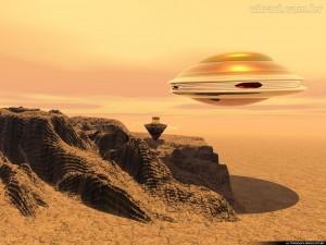 Ilustração de disco voador