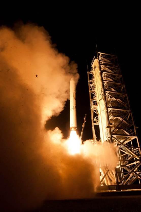 Sapo salta em lançamento de foguete