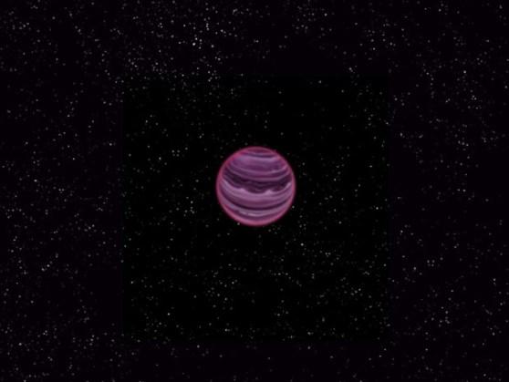 Representação gráfica de como pode ser o planeta que perambula pelo espaço