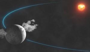 O planetóide Ceres contém água, em forma de vapos.