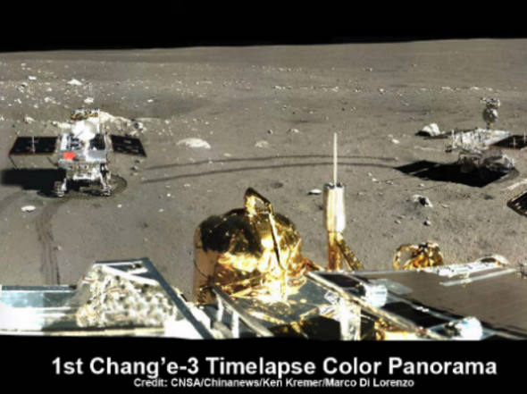 First-panoramic-picture-by-Yutu-the-Chinese-lunar-probe.