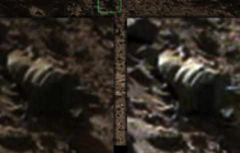 Rocha peculiar, ou agrupamento de ossos.