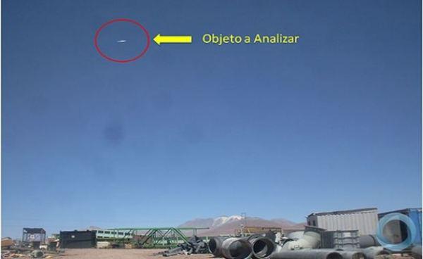Disco voador fotografado no Chile em abril de 2013.