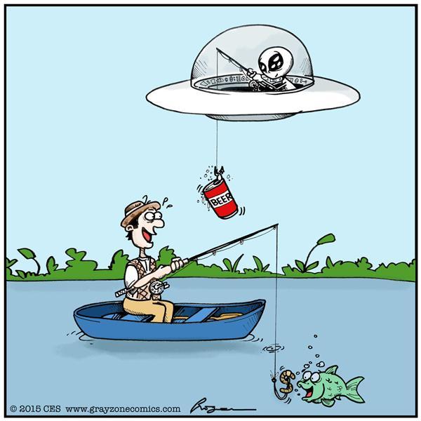 ET pescando