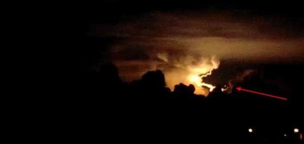OVNI em Tupanciretã, na região central do Rio Grande do Sul, Brasil.