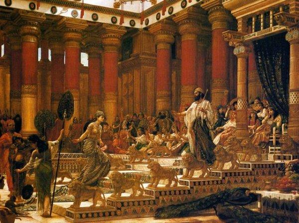 A visita da Rainha de Sheba ao Rei Salomão. Credito: wikipedia
