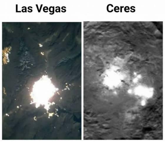 Las Vegas comparada com Ceres