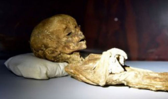 UFO chasers claim mummified children like this one found in ancient tombs are actually aliens