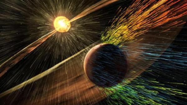 Marte perdendo sua atmosfera