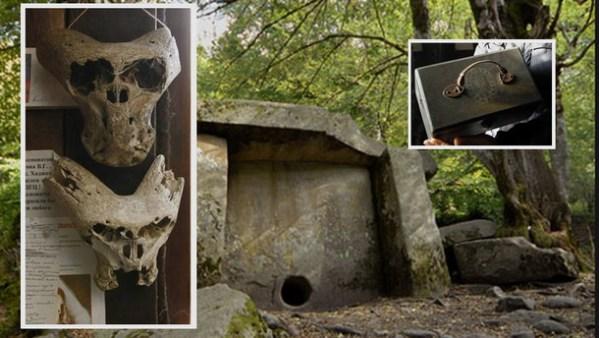 Local onde crânios anômalos foram encontrados