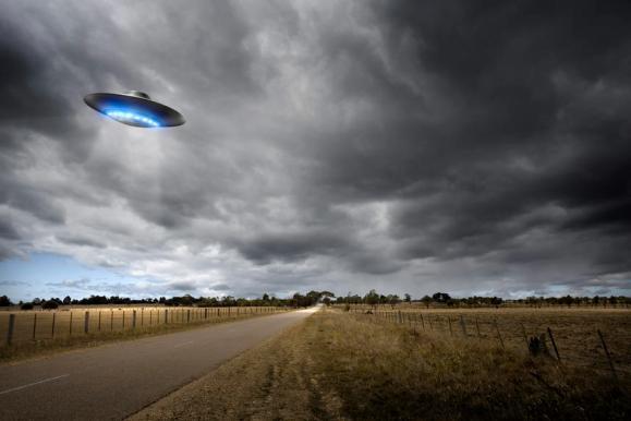 Imagem ilustrativa de um OVNI.