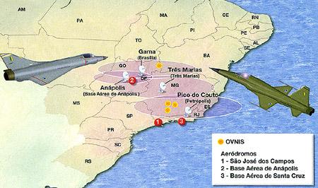 Regiões onde o fenômeno ocorreu em 1986.