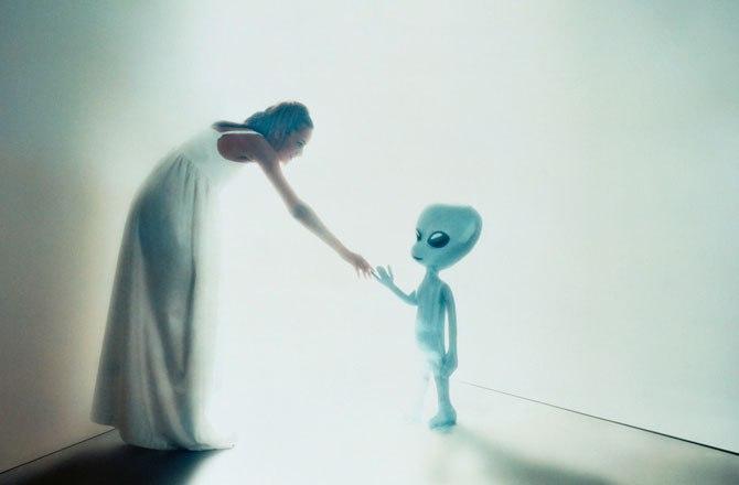 encontrar com os alienígenas