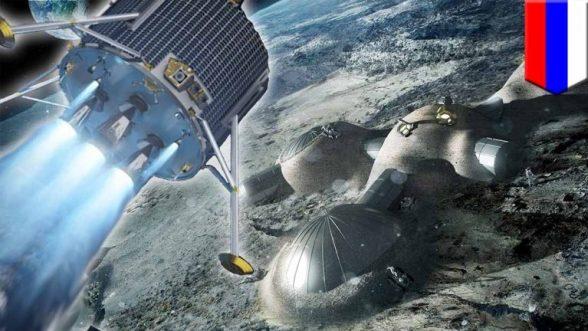 Ilustração de possível futura base lunar russa.