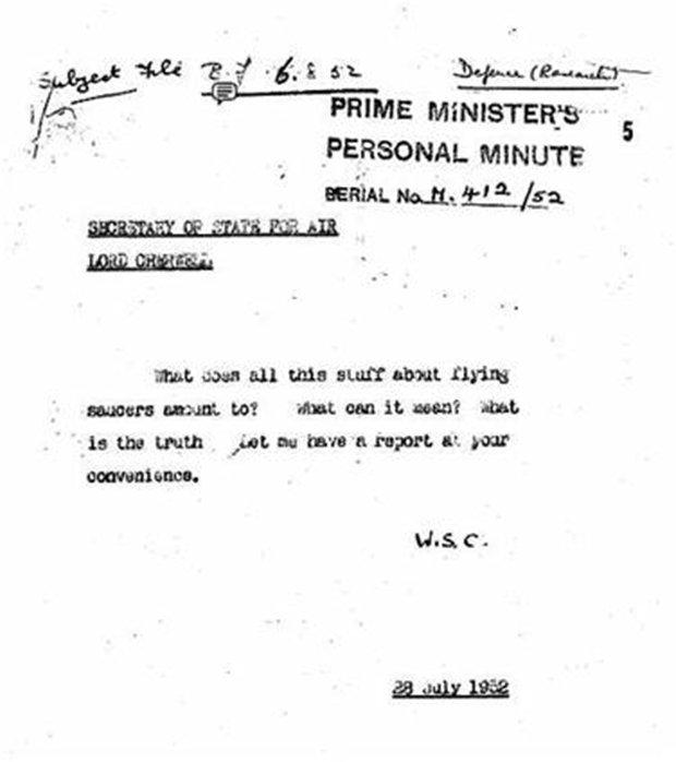 """Os """"Arquivos X"""" de Winston Churchill: Investigações secretas sobre OVNIs"""