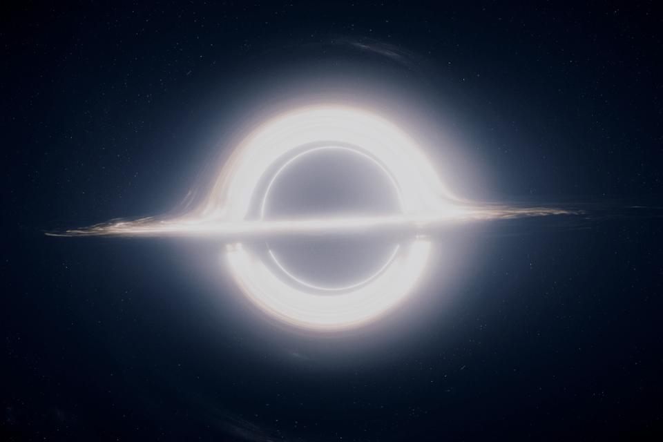 a transmissão ao vivo da primeira foto de um buraco negro
