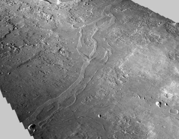 Leitos de rio em Marte.