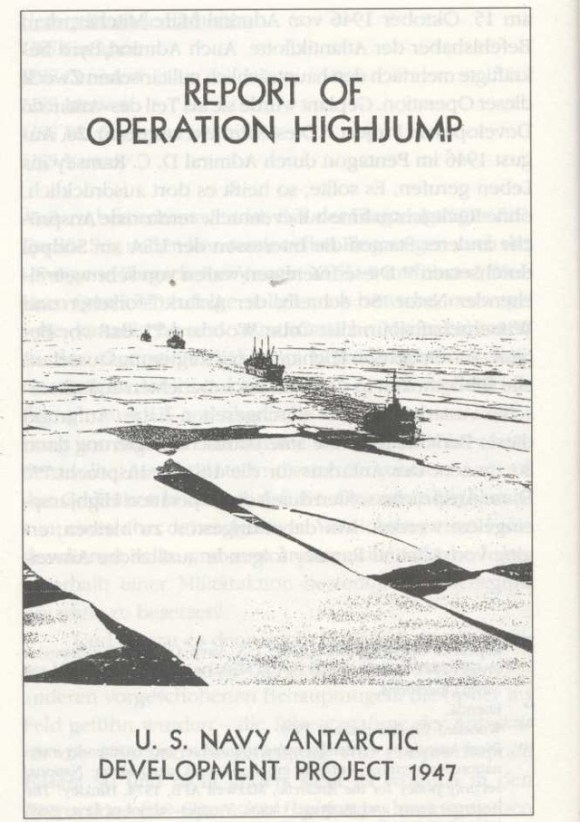 report of operation high jump