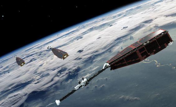 Os satélites Swarm, da ESA, foram lançados para estudar o campo eletromagnético da Terra.