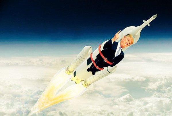 Donald Trump no espaço
