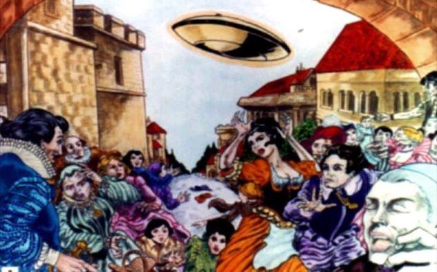12 avistamentos fascinantes de OVNIs da história antiga 3