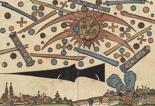 12 avistamentos fascinantes de OVNIs da história antiga 4