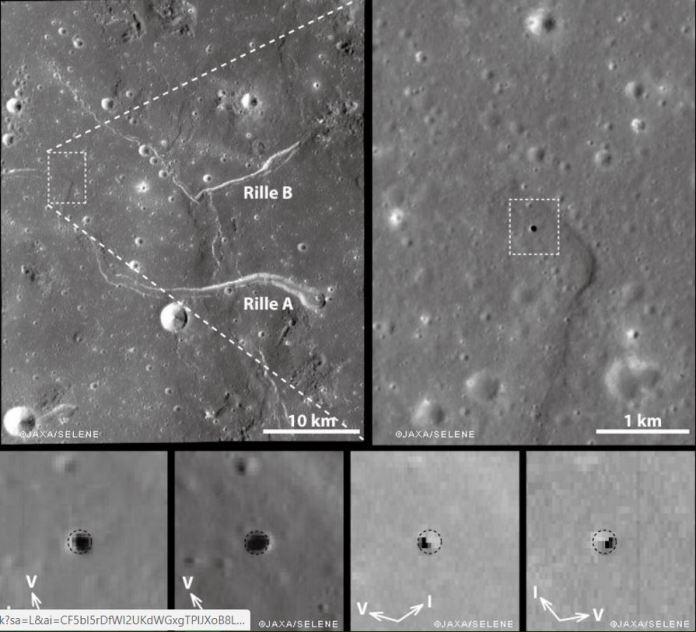 túneis subterrâneos na Lua