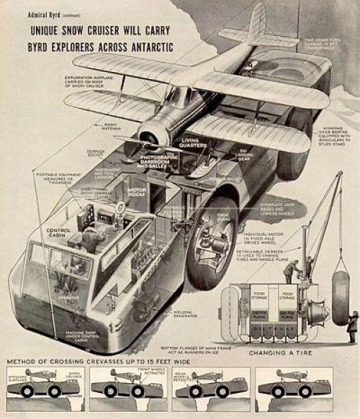 Mistério: O que aconteceu com o enorme 'cruzador da neve' da Antártica na expedição do Almirante Byrd? 3