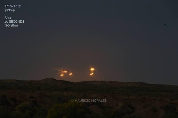 vídeo de vários OVNIs no deserto do Arizona