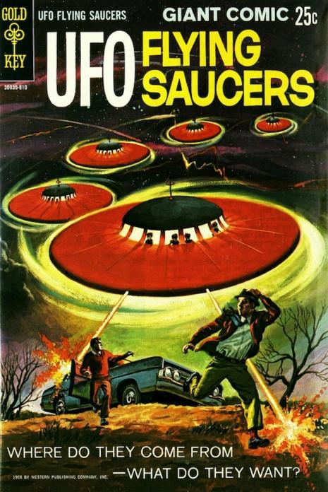 Capas fantásticas de revistas sobre OVNIs nas décadas de 60 e 70 1