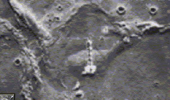 posto alienígena avançado na Lua