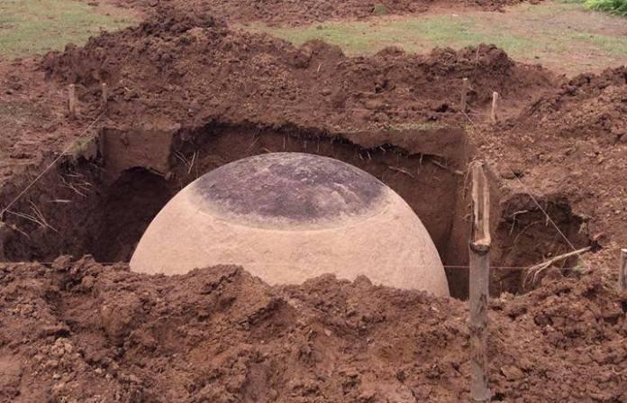 esfera é desenterrada na Costa Rica