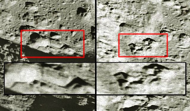enormes edifícios na Lua