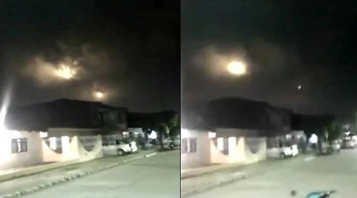 colombianos se assustam com luzes no céu