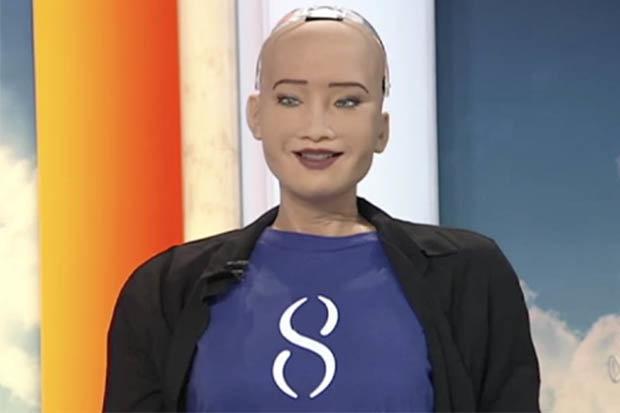 Robô mais avançado do mundo ameaça a humanidade ao vivo na TV australiana 1