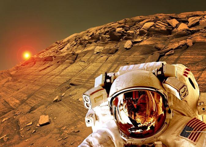 Eu vi humanos caminhando em Marte