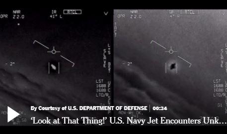 Importante: Pentágono libera vídeo autêntico de OVNI e admite programa para estudo do fenômeno 1