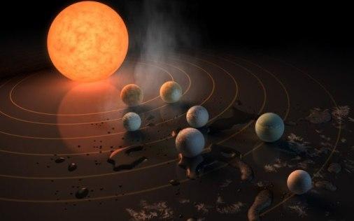 Planetas em Trappist-1 provavelmente podem abrigar vida alienígena