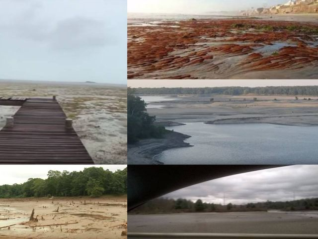 Mar recua no Equador e deixa habitantes receosos 2
