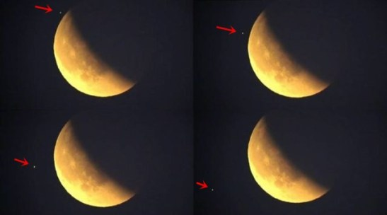 OVNI é filmado ao vivo durante transmissão da eclipse lunar