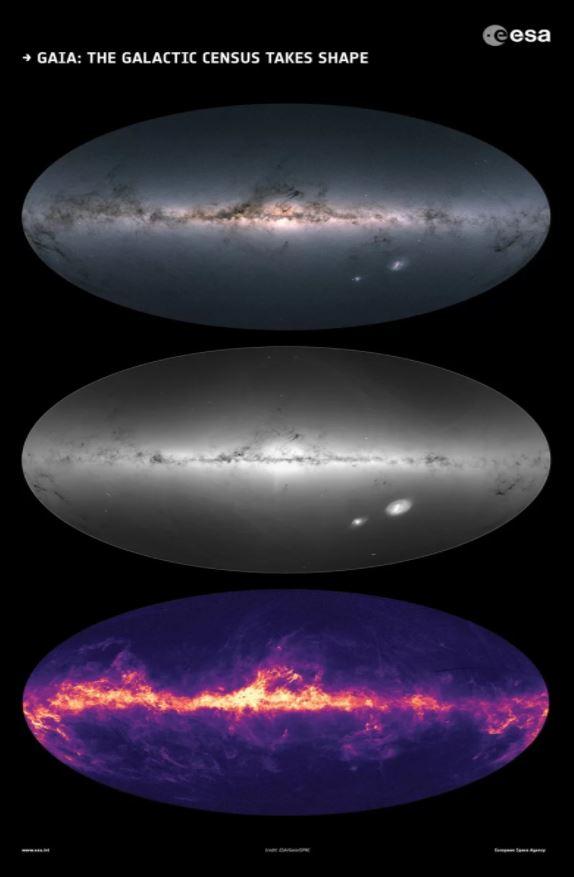 ESA revela o mais detalhado mapa estelar de nossa galáxia, com 1,7 bilhão de estrelas 3