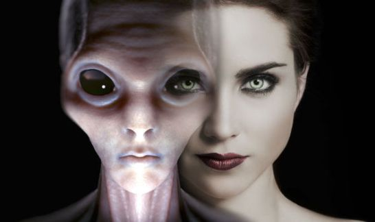 alienígenas humanos do futuro