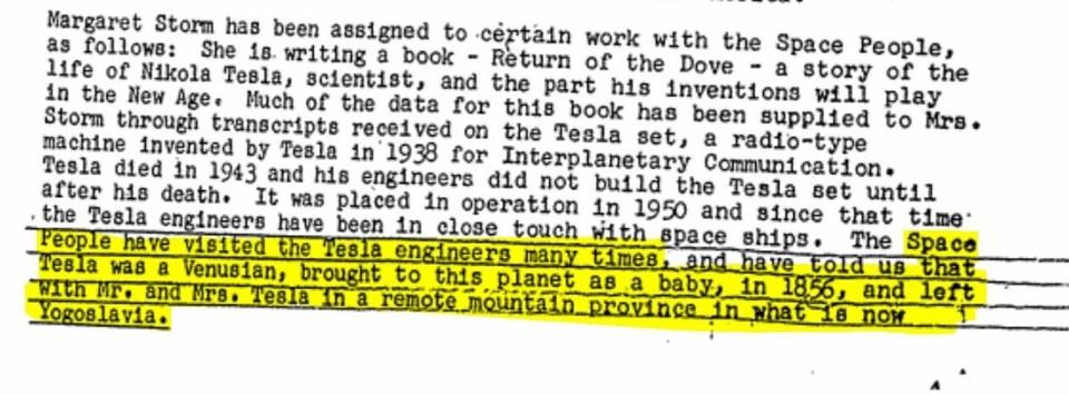 Nikola Tesla foi trazido de Vênus, menciona documento do FBI 2
